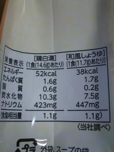 10品目の厳選素材減塩スープ 栄養成分表